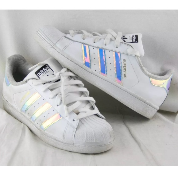le adidas superstar ologramma iridescente scarpe poshmark